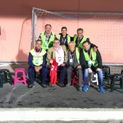 Richard Hayden with Albanian FA staff in Albania; on site assistance and guidance